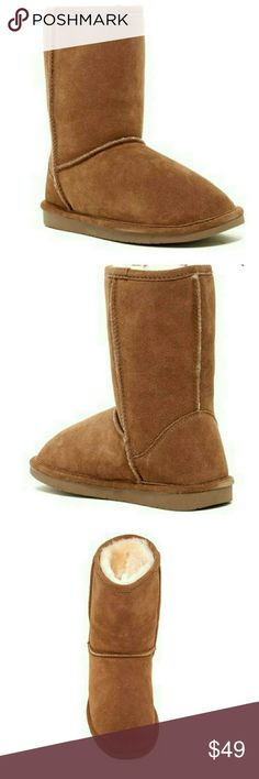 """New Abound Sasha Short Shearling Suede Boot New, never been worn From Nordstrom Size 11 (could work for a 10 or 10.5 too if you don't mind a little extra room) Round toe - Suede construction - Pull-on - Genuine shearling lining - Approx. 8.5"""" shaft height, 12"""" opening circumference  - Imported Materials Suede upper, genuine shearing lamb lining (origin: China), faux fur lower lining (80% polyester, 20% wool), rubber outsole Abound Shoes Winter & Rain Boots"""