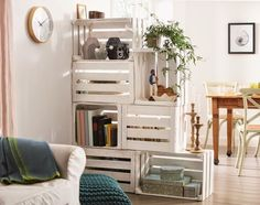 Marzua: Hágalo usted mismo: mueble de almacenaje y separador de ambientes con…