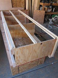 DIY: King Size Storage Bed Part 2 - Drawers