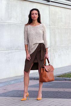 brown office satchel