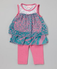 Another great find on #zulily! Pink Chiffon Top & Leggings - Infant & Toddler #zulilyfinds