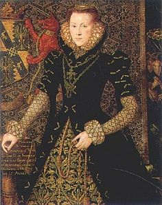 Margaret Audley, duchess of Norfolk, 1562   by Hans Eworth   Margaret (1540-1564) was the daughter of Thomas, Lord Audley.  In 1558, she married Thomas Howard, 4th duke of Norfolk; she was his second wife.  The 'Audley arms', supported by the 'Audley Beast', are featured in this beautiful portrait.  The portrait was painted while she lived with her husband in London, at the Norfolk city home called Charterhouse.  Margaret died in childbirth in 1564.