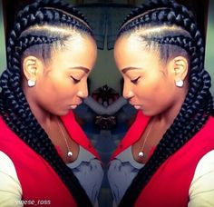 Jumbo cornrows with kanekolon Beautiful Braids, Gorgeous Hair, African Braids Hairstyles, Braided Hairstyles, Protective Hairstyles, Natural Hair Tips, Natural Hair Styles, Ghana Braids, Goddess Braids