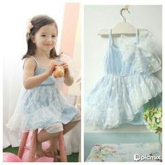 Idr 90k Blue Lace Dress