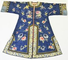 A 19th Century Chinese Woman's Silk Robe