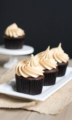 chocolate cupcakes with Biscoff buttercream icing (cookie butter)
