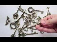 DIY flying key mobile - Harry Potter tutorial - YouTube