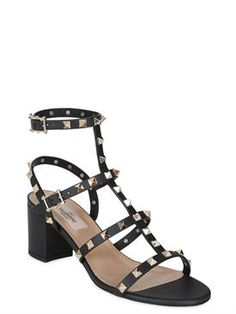 Valentino 60mm rockstud leather sandals · Leather SandalsWomen SandalsTop  DesignersValentinoWomen's SandalsWomen's Shoes Sandals