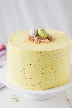 I am Baker Share With Your Friends A coconut lemon cake decorated as a speckled easter egg. Coconut Lemon Layer Cake submitted by Blahnik Baker You May Also LikeRaspberry Chocolate CakeChocolate Beet Cake with Naturally Dyed Pink Buttercream Cupcakes, Cupcake Cakes, Just Desserts, Delicious Desserts, Yummy Treats, Sweet Treats, Lemon Layer Cakes, Cake Recipes, Dessert Recipes