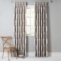 Buy John Lewis Evesham Tree Lined Pencil Pleat Curtains, Flint, W167 x Drop 137cm Online at johnlewis.com