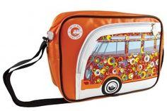"""Torba na ramię VW Bus """"Circles"""" pomarańczowa"""