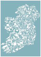 Beautiful print by Jane Steger-Lewis of County Mayo, Ireland County Mayo, Irish Design, Map Design, Origami Paper, Just Giving, Paper Cutting, Typography Design, Paper Art, City Photo