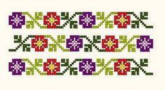 cusaturi romanesti - Google Search Cross Stitch Bookmarks, Beaded Cross Stitch, Cross Stitch Borders, Cross Stitch Alphabet, Cross Stitch Flowers, Cross Stitching, Cross Stitch Patterns, Blackwork Patterns, Blackwork Embroidery