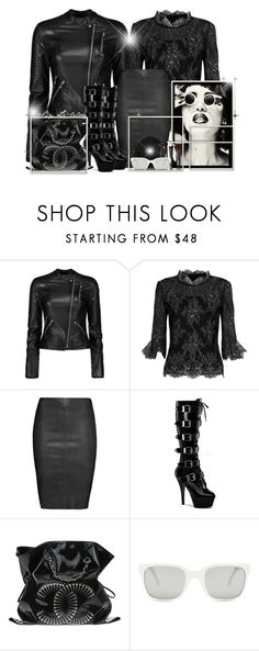"""""""Platform Boots Goth!"""" by li-lilou ❤ liked on Polyvore featuring Oscar de la Renta, Jitrois, Pleaser, Chanel, Polo Ralph Lauren and Federica Tosi"""