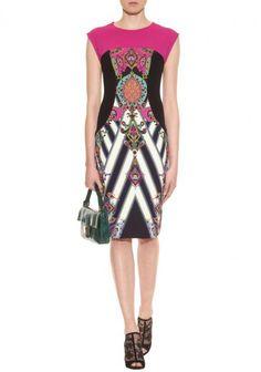 Aliexpress.com : Buy 2014 Spring And Summer Hit Color Printing Stitching Beautiful Artistic OL Dress UK8 UK16 Temperament Slim Dress Free sh...