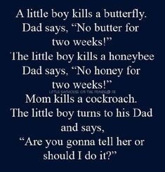Little boy kills a butterfly - adult joke