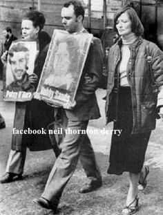Far left Hunger striker Patsy O Hara Mothers (Peggy O Hara) The other Lady is Bobby Sands sister