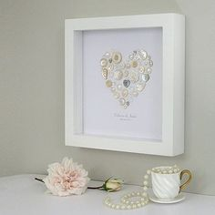 Personalised Pearl Anniversary Heart Picture
