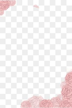 Flower Header, Flower Border Png, Painted Flowers, Pink Flowers, Business Invitation, Flower Clipart, Book Layout, Photoshop Tips, Clipart Images