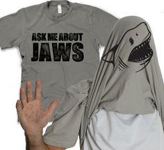 """""""Ask Me about my Shark"""" shirt --  shark flip t-shirt"""