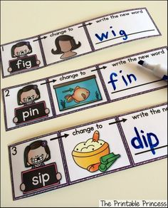 Love this word work idea!!! Change the beginning sound to make a new word.