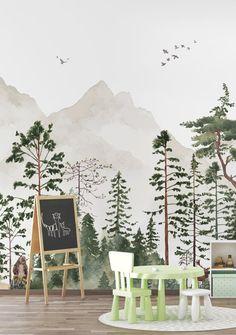 Wallpaper Nursery  the Friendly Forest  Fleece Wallpaper    Etsy