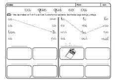 Fichas infantiles para aprender a leer y aprender a escribir con la letra C. Dibujos Lectoescritura con letra C para colorear. Lectoescritura_CyQ_30
