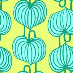 Amy Butler - Lark Sateen - Chinese Lanterns in Citrus