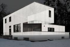 The School of Bauhaus/ House Gropius – Master's House Complex, 1926 Bauhaus Architecture, Architecture Collage, Bauhaus Building, Moholy Nagy, Walter Gropius, Architects, House Plans, Stairs, Masters
