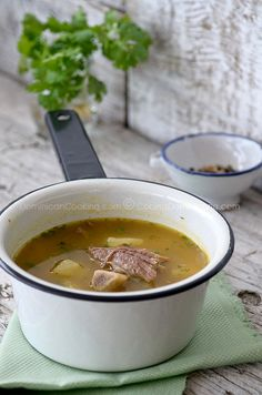 Old fashioned bone soup.