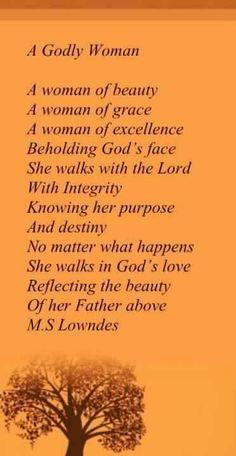 A Godly Woman ~ღ~