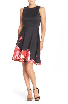 Maggy London Floral Fit & Flare Dress (Regular & Petite) available at #Nordstrom