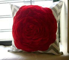 Throw Pillow Cover  16 x 16  Gray Chevron by JuliaSherryHome