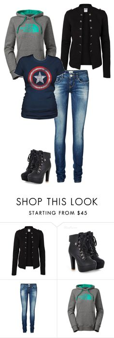 Untitled #66 by jasminalexia on Polyvore featuring The North Face and Vero Moda