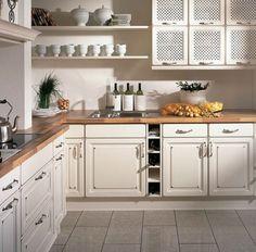 Landelijke keuken met typische landelijke keukenkastjes