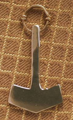 Bronze Thor's Hammer with Black Leather Thong by irenedavis1, $25.00