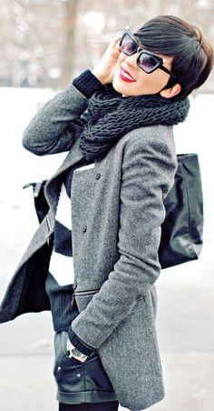 Baddie Hairstyles Chic Short Hairstyle To Copy Right Winter Wear, Autumn Winter Fashion, Winter Chic, Looks Style, Style Me, Winter Typ, Gamine Style, Love Fashion, Womens Fashion