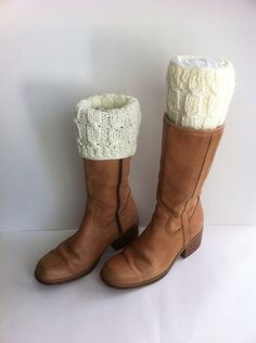 READY TO SHIP Boot cuff / Women Knit  Boot Cuffs by LoreNovedades, $21.50