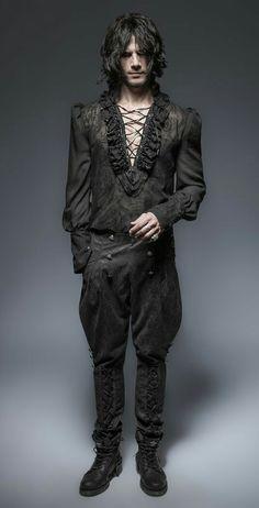 Victorian Costume, Steampunk Costume, Fashion Show, Mens Fashion, Fashion Design, Gothic Men, Vampire, Vogue, Drawing Clothes
