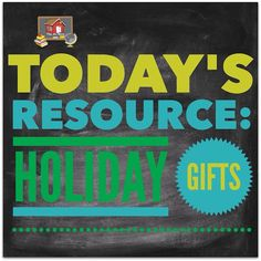 Teacher Toolkit Tuesday: Holiday Gifts - The Organized Classroom Blog!   Today's blog post is all about finding some great gifts!   Not just for your students, this board (one of my most popular boards by the way), has over 100 different and unique pins for finding that special gift for your colleagues - or for teachers of your own kids.  Lots of things you may have never thought of before.  :)