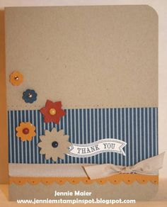 SUO-FTL215 & FabFri06 Thanks by CraftyJennie - Cards and Paper Crafts at Splitcoaststampers