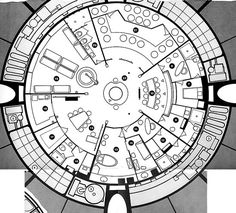 Blueprint for C-57D space cruiser (Forbidden Planet ...