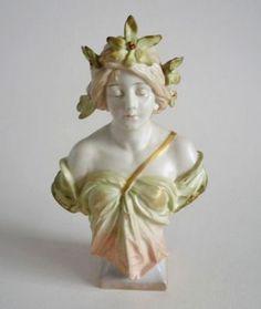 Royal Dux Art Nouveau 'Maiden' Bust c1900