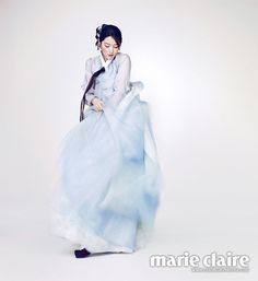 Lee Young Ae Is Graceful In A Hanbok For Marie Claire Korea's February 2014 Issue Korean Traditional Clothes, Traditional Fashion, Traditional Dresses, Korean Dress, Korean Outfits, Asian Girl, Korean Girl, Modern Hanbok, Lee Young