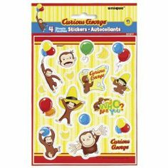 Curious George Sticker Sheets (4) Party Supplies by Unique Industries, Inc.. $4.33. Curious George. Kids' Party Supplies. Includes 4 sticker sheets. This is an officially licensed Curious George ® product.