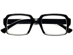 VINTAGE RETRO THICK FRAME CLEAR LENS GLASSES W431