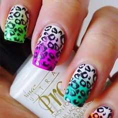 50 Animal Themed Nail Arts...A lot of really cute designs - bees, lady bugs, tiger stripes, leopard, butterflies, chicks, cows, giraffes, etc...