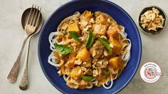 One-pot Massaman curry with pumpkin and rice noodles recipe
