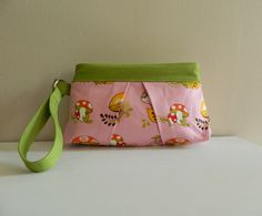 Mushroom+Wristlet+Clutch+in+Pink+by+KYEbags+on+Etsy,+$29.99