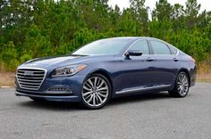 The chiseled grill and long swooping lines make the 2015 Hyundai Genesis sedan appear to be slicing through the air even when idle, while the interior features quality materials and a straightforward dash layout.  Chris Brewer